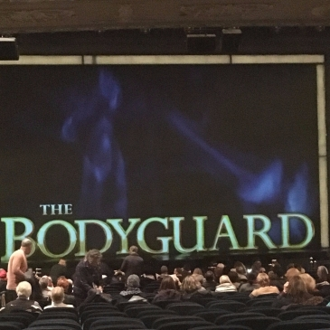 the bodyguard sign on large screen