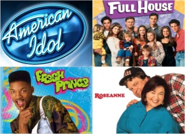 Collage of old shows and sitcoms