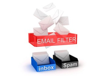 filter on top of inbox and spam boxes