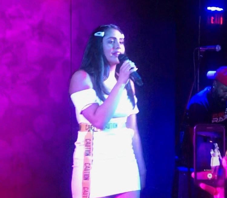 Ameerah singing live in concert