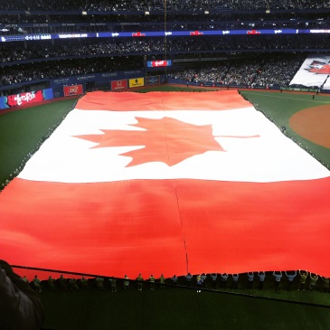 Canada Day Flag at Rogers Centre