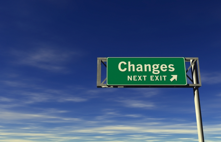"Sign that says ""Changes: Next Exit"""