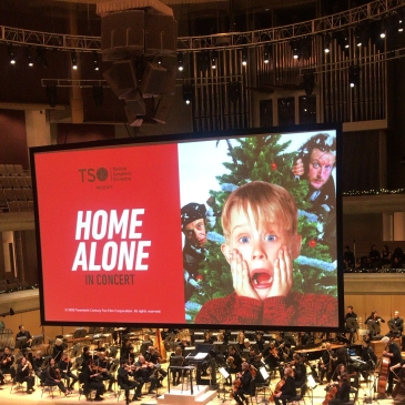 Screen showing Home Alone Image